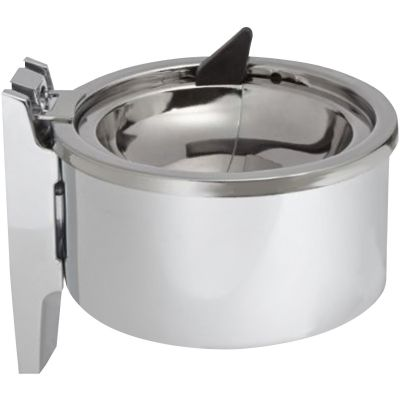 "Impact 4004 Wall Ashtray, 4"", Chrome - 12 / Case"