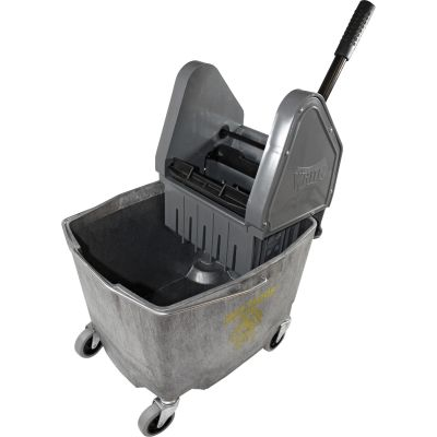 Impact 4G26353G Mop Bucket with Down-Press Wringer, 35 Quart, Gray - 1 / Case