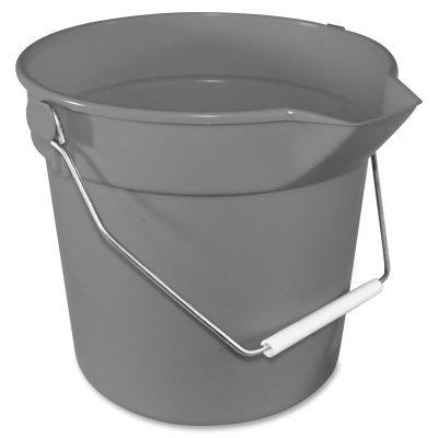 Impact 5510 Utility Bucket, 10 Quart, Gray - 12 / Case