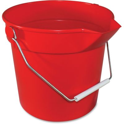Impact 5510R Utility Bucket, 10 Quart, Red - 12 / Case