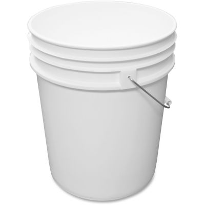 Impact 5515P 5 Gallon Utility Bucket, Steel Handle, White - 10 / Case