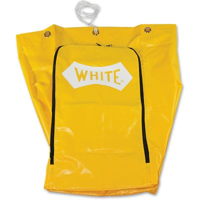 Impact 6851 Janitor Cart Bags, Vinyl, Yellow - 24 / Case