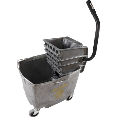 Impact 6G26353G Mop Bucket with Side-Press Wringer, 35 Quart, Gray - 1 / Case