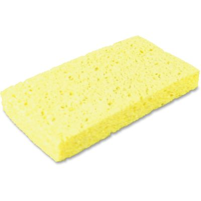 "Impact 7160P Cellulose Sponges, 3-2/5"" x 6-1/4"" x 1"", Yellow - 48 / Case"