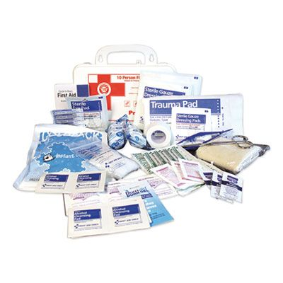 Impact 7317 First Aid Kit for 10 People, 62 Pieces, Plastic Case - 1 / Case