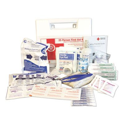 Impact 7318 First Aid Kit for 25 People, 107 Pieces, Plastic Case - 1 / Case