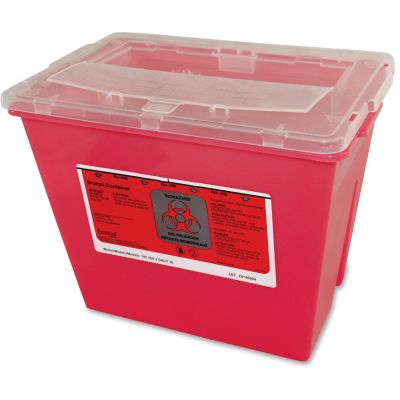 Impact 7352 Sharps Disposal Container, 2 Gallon, Red - 30 / Case