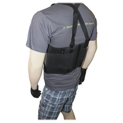 Impact 7379L Back Support with Suspenders, Large, Black - 1 / Case
