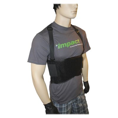Impact 7389M Basic Back Support with Suspenders, Medium, Black - 1 / Case