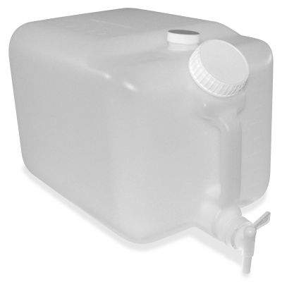 "Impact 7576 5 Gallon E-Z Fill Chemical Container, 9-1/2"" x 16"" x 9-1/2"", Translucent - 6 / Case"