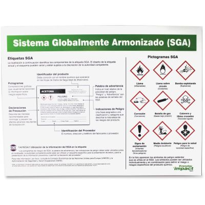 Impact 799078 GHS Label Guidline Laminated Poster, Spanish - 1 / Case