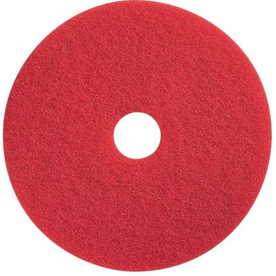 "Impact 90414 Floor Spray Buffing Pad, 14"", Red - 5 / Case"
