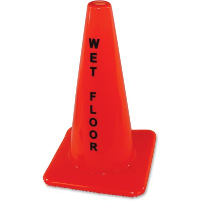 """Impact 9100 Wet Floor Cone Sign, 18"""", Orange - 1 / Case"""