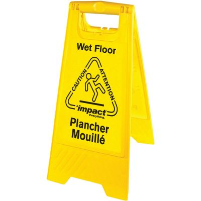 Impact 9152W Wet Floor Caution Sign, English / Spanish - 6 / Case