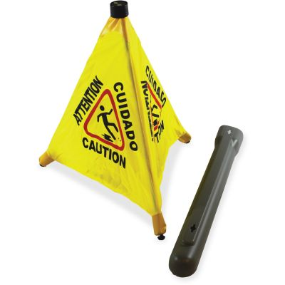 "Impact 9182 Caution Wet Floor Cone, Pop-Up, 31"" - 24 / Case"