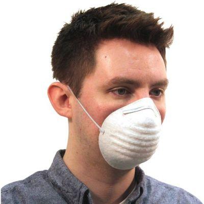 ProGuard 7300B Disposable Nontoxic Dust Masks, White - 50 / Case