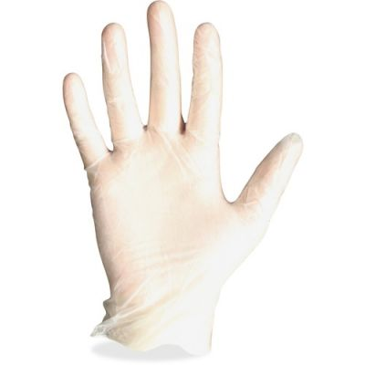 Impact 8961L Protected Chef Vinyl Disposable Gloves, Powder-Free, Large, Clear - 100 / Case