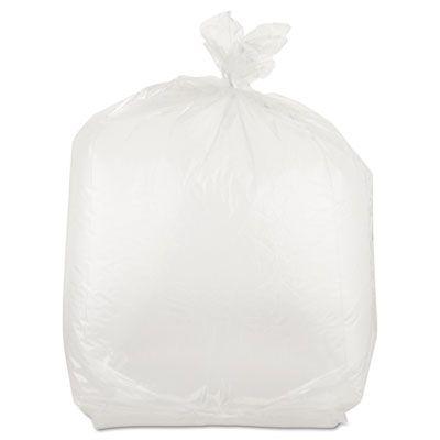"""Inteplast PB100824 Plastic Food Bags, 22 Quart, 1 Mil, 10"""" x 24"""" x 8"""", Clear - 500 / Case"""