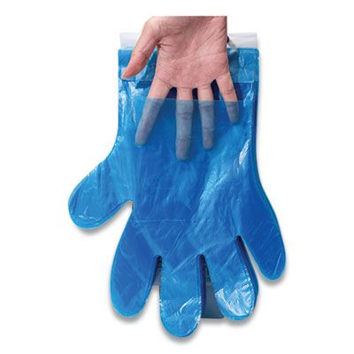 Inteplast R2GOPE8K Reddi-to-Go Poly Gloves on Wicket, One Size, Clear - 8000 / Case