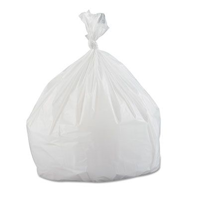 "Inteplast SL3339XHW 33 Gallon Garbage Bags / Trash Can Liners, 0.8 Mil, 33"" x 39"", White - 150 / Case"