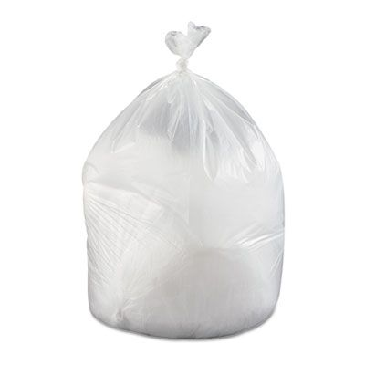 "Inteplast VALH3860N22 60 Gallon Garbage Bags / Trash Can Liners, 19 Mic, 38"" x 58"", Clear - 150 / Case"