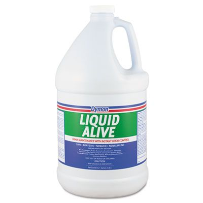 ITW 23301 Dymon Liquid Alive Drain Maintenance Cleaner with Instant Odor Control, 1 Gallon Bottle - 4 / Case