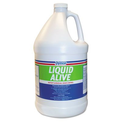 ITW 33601 Dymon Liquid Alive Deodorizer, Neutral Scent, 1 Gallon - 4 / Case