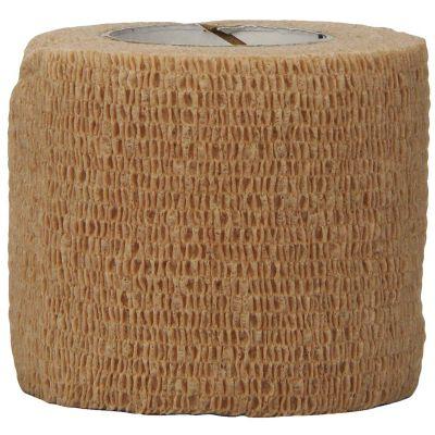 "3M 1582 Coban Cohesive Wrap Bandages w/ Self-Adherent Closure, 2"" x 5 Yds Roll, Tan - 36 / Case"