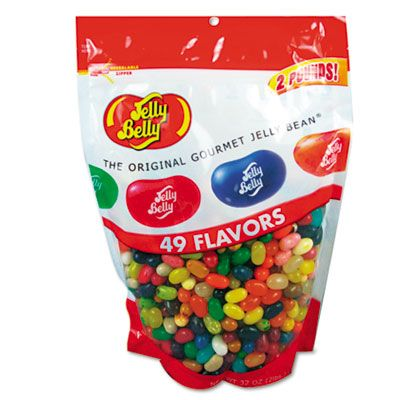 Jelly Belly 98475 Jelly Bean Candy, 49 Assorted Flavors, 2 Lb Bag - 1 / Case