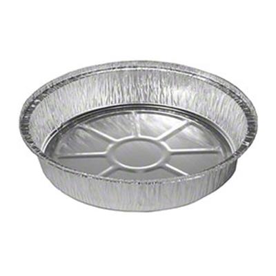 "JIF-FOIL 8090 9"" Round Aluminum Foil Carryout Pan / Container, Silver - 500 / Case"