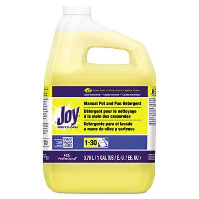 Joy 57447 Dishwashing Liquid, Lemon Scent, 1 Gallon Bottle - 4 / Case