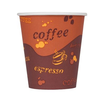 Karat C-K510 10 oz Paper Hot Cups, Coffee Design - 1000 / Case