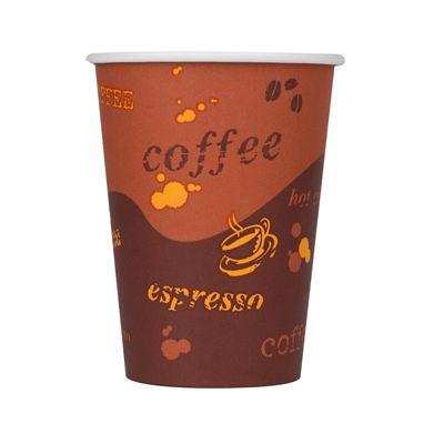 Karat C-K512 12 oz Paper Hot Cups, Coffee Design - 1000 / Case