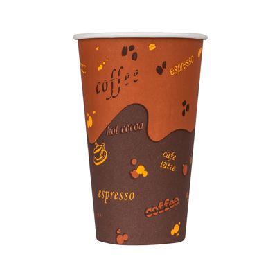 Karat C-K516U 16 oz Paper Hot Cups, Coffee Design - 1000 / Case