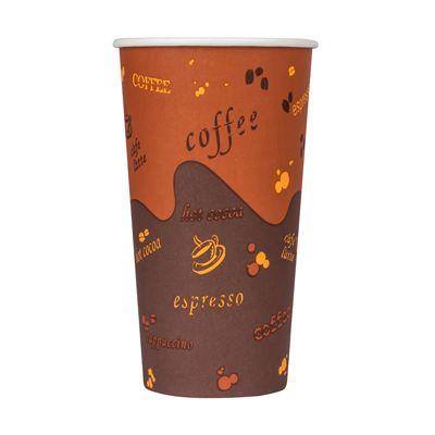 Karat C-K520 20 oz Paper Hot Cups, Coffee Design - 600 / Case