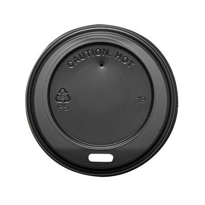 Karat C-KDL508B Sipper Dome Lid for 8 oz Paper Hot Cups, Polystyrene, Black - 1000 / Case