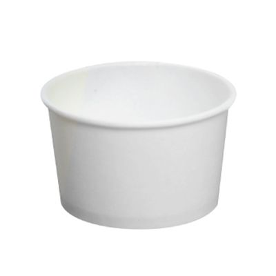 Karat C-KDP4W 4 oz Paper Food Containers, Round, White - 1000 / Case