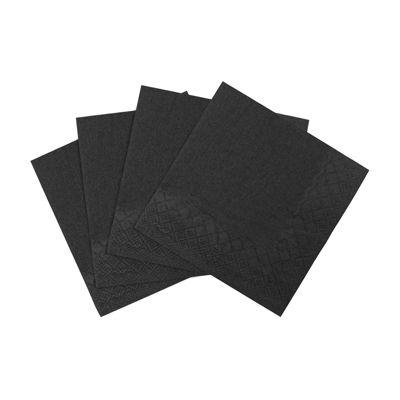 Karat KN-B9595-2BLK Paper Beverage Napkins, 2 Ply, 1/4 Fold, Black - 1000 / Case