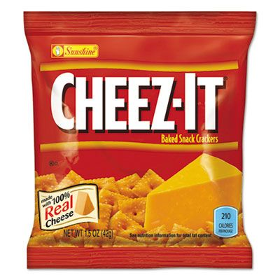 Kellogg's 122264 Sunshine Cheez-It Crackers, Reduced Fat, 1.5 oz Bag - 60 / Case