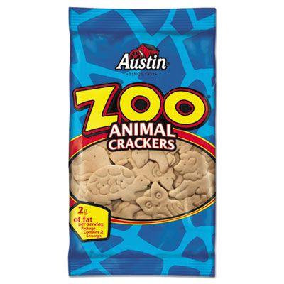 Kellogg's 40975 Austin Zoo Animal Crackers, Original, 2 oz Pack - 80 / Case