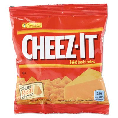 Kellogg's 827553 Sunshine Cheez-It Crackers, Original, 1.5 oz Pack - 45 / Case