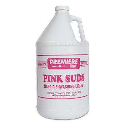 Kess ELITE4 Premiere Pink Suds Hand Dishwashing Liquid Soap, Heavy Duty, 1 Gallon Bottle - 4 / Case
