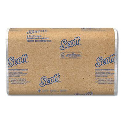 "Kimberly-Clark 3623 Scott Essential C-Fold Paper Hand Towels, 10-1/8"" x 13-3/20"", White - 1800 / Case"