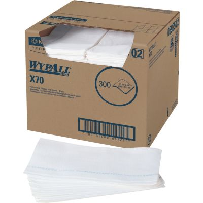 "Kimberly-Clark 5925 WypAll X70 Foodservice Towel Wipers, 12.5"" x 23.5"", White - 300 / Case"