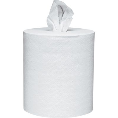 """Kimberly-Clark 1032 Scott Center Pull Roll Paper Hand Towels, 8"""" x 12"""", 700 / Roll, White - 6 / Case"""
