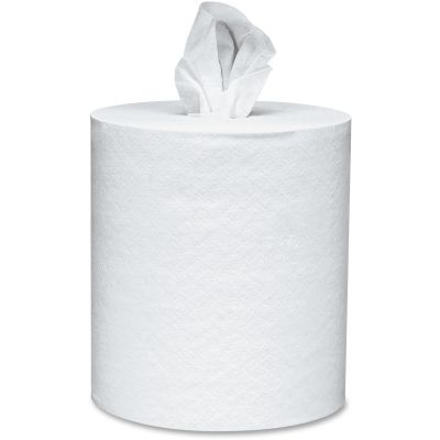 """Kimberly-Clark 1320 Kleenex Center Pull Roll Paper Hand Towels, 8"""" x 15"""", 250 / Roll, White - 4 / Case"""