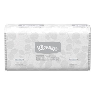 "Kimberly-Clark 13253 Kleenex Premiere Folded Paper Hand Towels, 7-2/5"" x 12-2/5"", White - 3000 / Case"