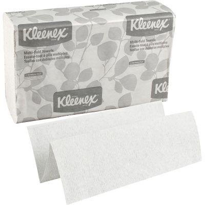 "Kimberly-Clark 2046 Kleenex Multi-Fold Paper Hand Towels, 9-1/5"" x 9-2/5"", White - 1200 / Case"
