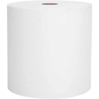 """Kimberly-Clark 02068 Scott Hardwound Roll Paper Hand Towels, 1 Ply, Recycled, 8"""" x 400', 1.5"""" Core, White - 12 / Case"""