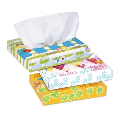 "Kimberly-Clark 21195 Kleenex 2 Ply Facial Tissue, 40 Sheets / Junior Pack, 5.5"" x 8.5"", White - 80 / Case"